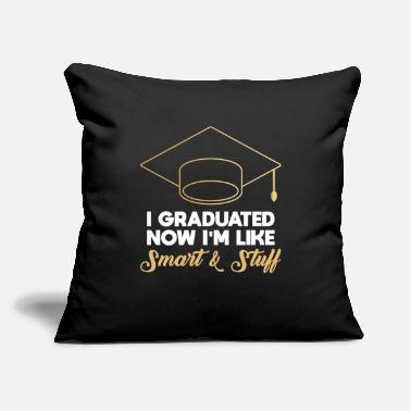 "Graduation Graduation Uni Celebration Graduate Graduated Gift - Throw Pillow Cover 18"" x 18"""
