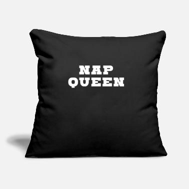 Bed Nap Queen sleep dream bed night snoring tired - Throw Pillow Cover
