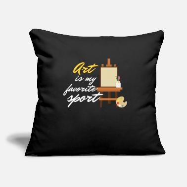 "Sport Art Is My Favorite Sport Painting Drawing Artists - Throw Pillow Cover 18"" x 18"""