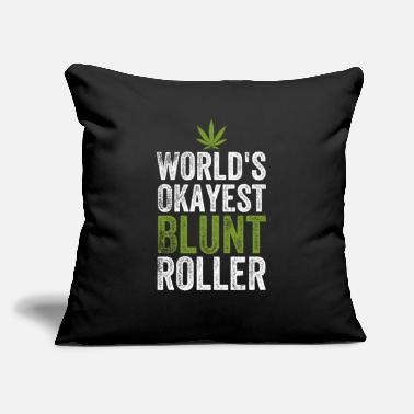 "Smoking Worlds okayest blunt roller - Throw Pillow Cover 18"" x 18"""