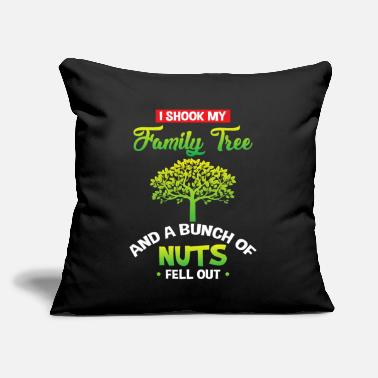 "Funny Family Family tree - funny family saying - Throw Pillow Cover 18"" x 18"""