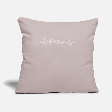 "Staff Music Staff Heartbeat to Music Notes White - Throw Pillow Cover 18"" x 18"""