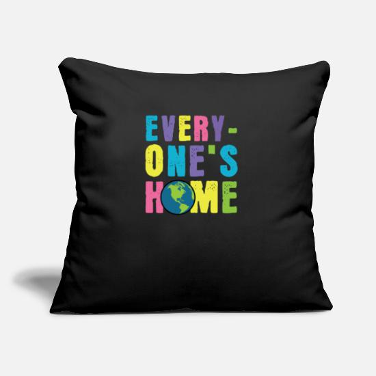 "Climate Pillow Cases - Everyone´s Home Clean Earth Nature Conservation - Throw Pillow Cover 18"" x 18"" black"