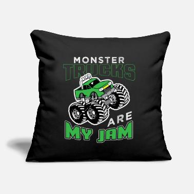 "Diesel Funny Monster Truck - Throw Pillow Cover 18"" x 18"""
