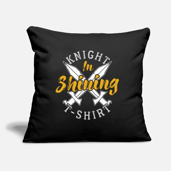 "Gift Idea Pillow Cases - Knight - Throw Pillow Cover 18"" x 18"" black"