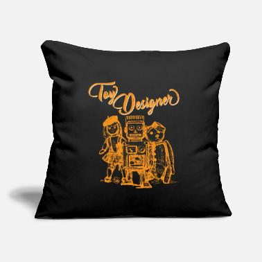 "Toy Toy designer toy kids gift - Throw Pillow Cover 18"" x 18"""