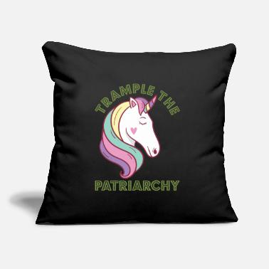 "Anti Trample The Patriarchy Unicorn Feminist - Throw Pillow Cover 18"" x 18"""