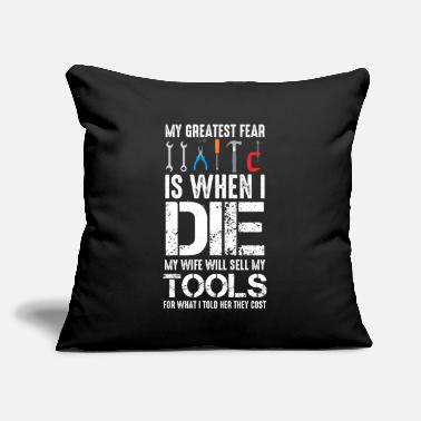 "Tool And Die Craftsman Husband Expensive Tools Workshop - Throw Pillow Cover 18"" x 18"""