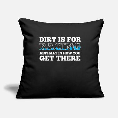 "Dirt Track Racing Car Driving Motorsport Racer - Throw Pillow Cover 18"" x 18"""