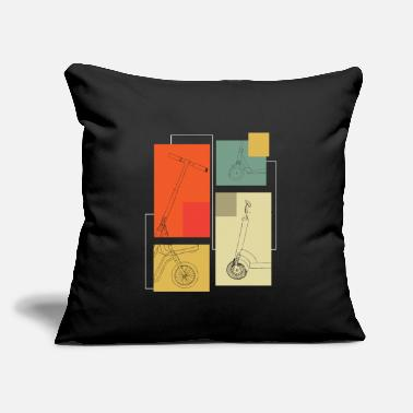 "Scooter Scooter Scooter Scooter Electric - Throw Pillow Cover 18"" x 18"""