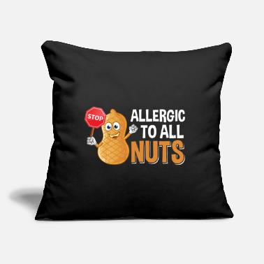 "Peanut Allergy Cute Peanut Allergy Kids Awareness Food Allergies - Throw Pillow Cover 18"" x 18"""