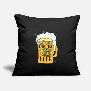 "Drinking I Do Have A Retirement Plan Drinking Beer Gift - Throw Pillow Cover 18"" x 18"""