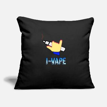 "Steam Vape Vaping Steam Steaming Steam Steamer Gift - Throw Pillow Cover 18"" x 18"""