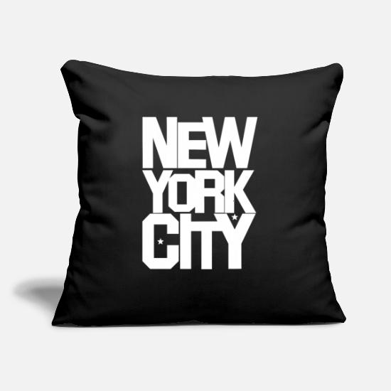 "Goodies Pillow Cases - Vintage new york typography - Throw Pillow Cover 18"" x 18"" black"