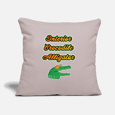 "Rap Meme Interior Crocodile Alligator Funny Gift - Throw Pillow Cover 18"" x 18"""