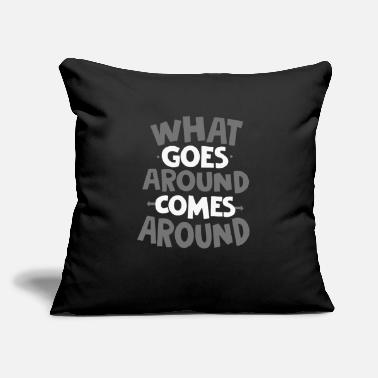 "Around Goes Around - Throw Pillow Cover 18"" x 18"""