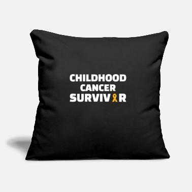 "Childhood Childhood : Childhood Cancer Survivor - Throw Pillow Cover 18"" x 18"""