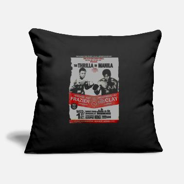 "The Thrilla in Manila - FRAZIER VS ALI - Throw Pillow Cover 18"" x 18"""