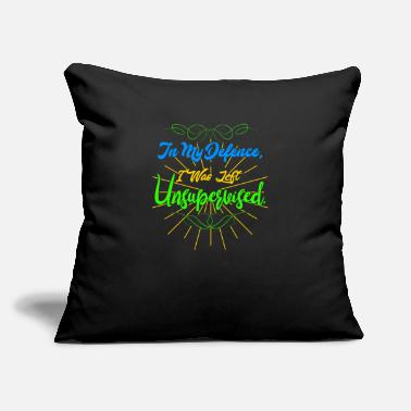 "Defence In My Defence Unsupervise - Throw Pillow Cover 18"" x 18"""