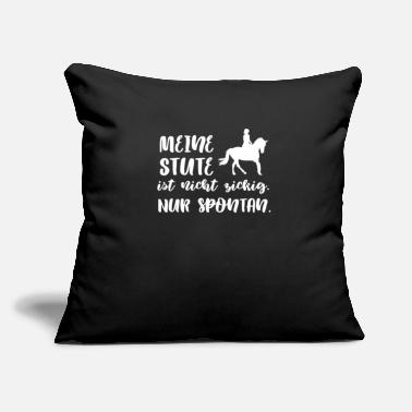 "Norman Thelwell Horse t shirt - Throw Pillow Cover 18"" x 18"""