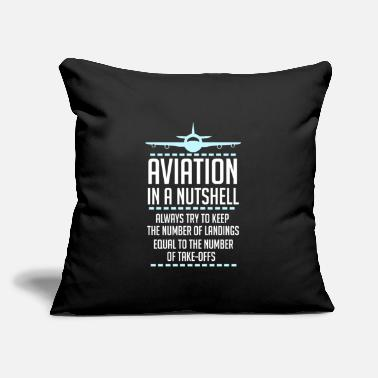 "Jet Aviation In A Nutshell Funny ATC Pilot Gift TShirt - Throw Pillow Cover 18"" x 18"""