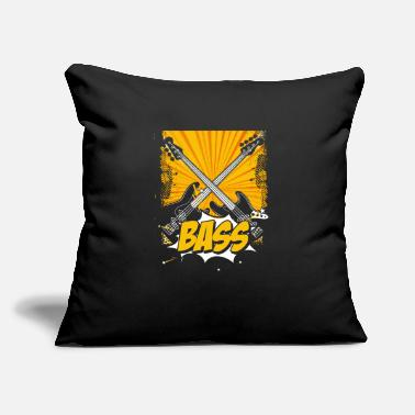 "Bass Bass - Throw Pillow Cover 18"" x 18"""