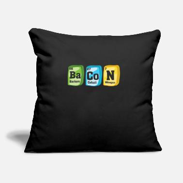 "Periodic Table Bacon periodic table - Throw Pillow Cover 18"" x 18"""