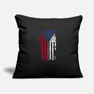 "Central Europe Czech Gift America Flag Prague Central Europe - Throw Pillow Cover 18"" x 18"""