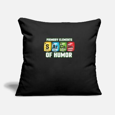 "Periodic Table Sarcasm periodic table - Throw Pillow Cover 18"" x 18"""