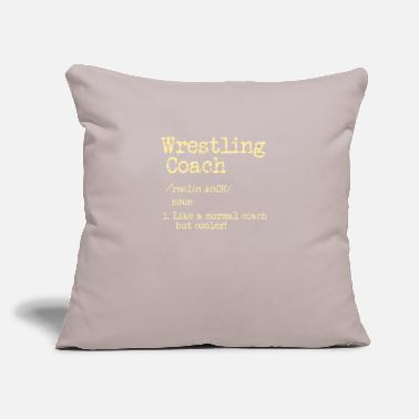 "Coach Cool WRESTLING Tee: Wrestling Coach - Throw Pillow Cover 18"" x 18"""