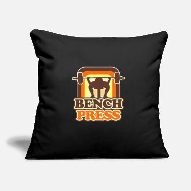 "Power Press Bench Press - Throw Pillow Cover 18"" x 18"""