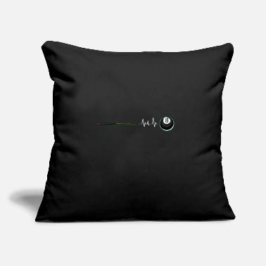 "Eight Balls pool Eight Ball Heartbeat - Throw Pillow Cover 18"" x 18"""