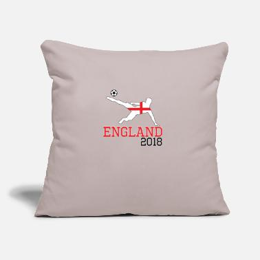 "England England soccer, #England - Throw Pillow Cover 18"" x 18"""