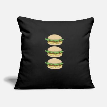 "Burger Burger Burger Burger - Throw Pillow Cover 18"" x 18"""