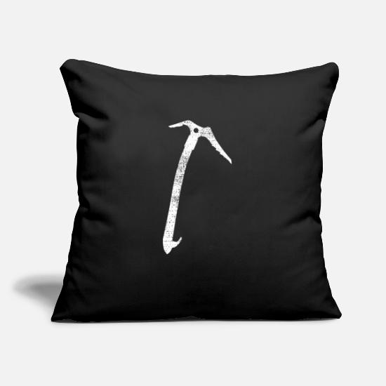 "Rock Pillow Cases - climber - Throw Pillow Cover 18"" x 18"" black"
