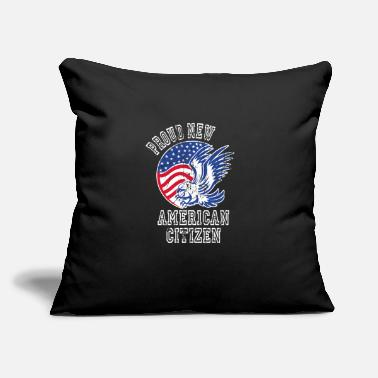 "American Citizen Proud New American Citizen Naturalized America - Throw Pillow Cover 18"" x 18"""