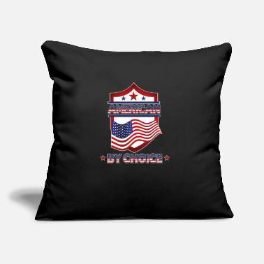 "American Citizen american by choice Naturalized citizen patriotic - Throw Pillow Cover 18"" x 18"""
