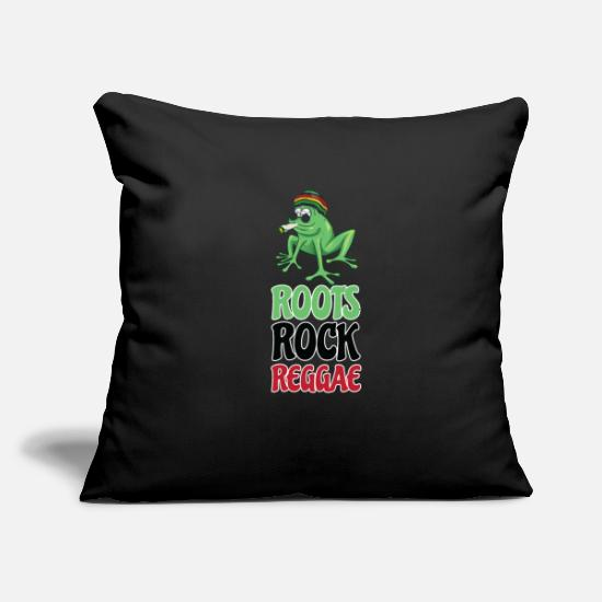 "Dancehall Pillow Cases - Roots Rock Reggae | Jamaican Rasta Stoner Roots - Throw Pillow Cover 18"" x 18"" black"