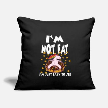 "Overweight I'm Not Fat I'm Just Easy To See - Throw Pillow Cover 18"" x 18"""