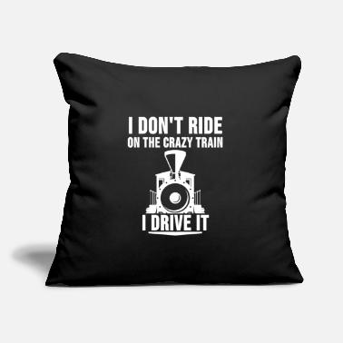 "Steam Locomotive Engineer Train Driver Railway Gift - Throw Pillow Cover 18"" x 18"""