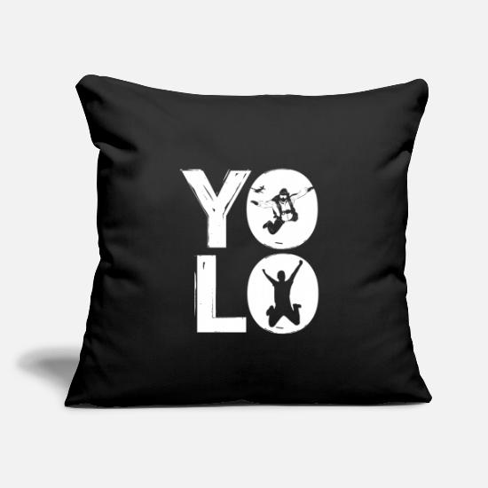 "Birthday Pillow Cases - You only lived once four letter word gift idea - Throw Pillow Cover 18"" x 18"" black"