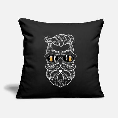 "Pinup Beard Beer and Girls Pinup - Throw Pillow Cover 18"" x 18"""