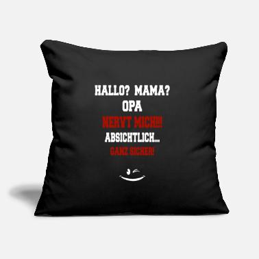 "Hello Hello mum? Grandma annoys me !! smile - Throw Pillow Cover 18"" x 18"""