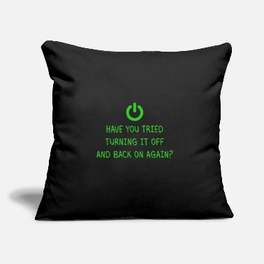 "Computer Geek Turning it off Programming Computer Science Gift - Throw Pillow Cover 18"" x 18"""