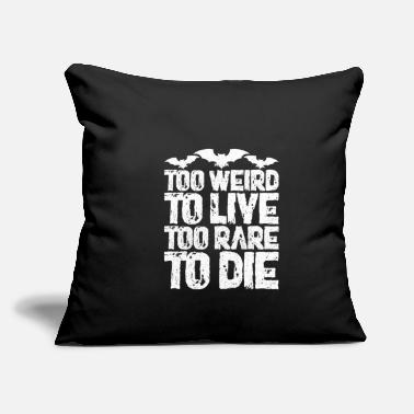 "Weird Al Yankovic To Weird To Live Too Rare To Die - Throw Pillow Cover 18"" x 18"""