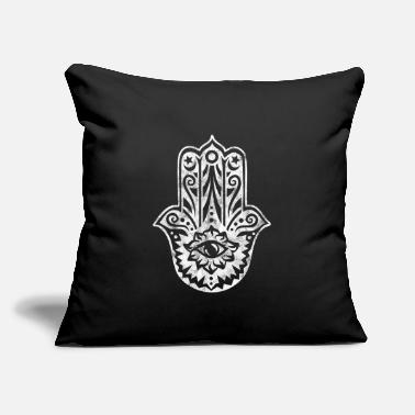 "Hamsa Hand of Fatima All Seeing Eye Protection - Throw Pillow Cover 18"" x 18"""
