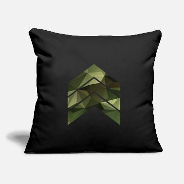 "Triangle Camouflage triangles / arrows - Throw Pillow Cover 18"" x 18"""