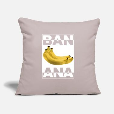 "Fruit Banana Fruit fruits - Throw Pillow Cover 18"" x 18"""