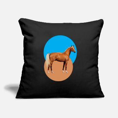 "Hor beautiful design hors - Throw Pillow Cover 18"" x 18"""