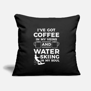 "Water Skiing Water Ski Coffee And Water Skiing - Throw Pillow Cover 18"" x 18"""
